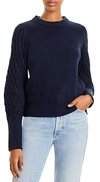 Aqua Crewneck Puffed Sleeve Sweater - 100% Exclusive