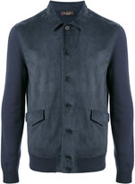 Loro Piana contrast sleeve bomber jacket - men - Cashmere/Lamb Nubuck Leather - 46