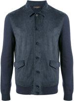 Loro Piana contrast sleeve bomber jacket