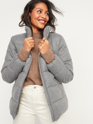 Old Navy Frost-Free Textured Puffer Zip Jacket for Women