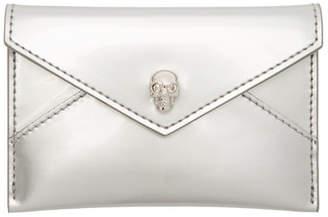 Alexander McQueen Silver Envelope Card Holder