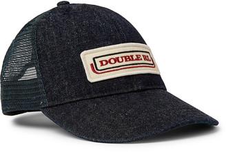 Ralph Lauren RRL Appliqued Denim And Mesh Trucker Hat