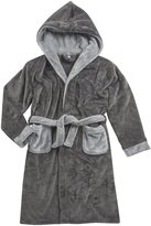 CARGO BAY Boys Flannel Fleece Bath Robe (Ages 7-13yrs) Soft Plush Gown