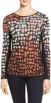 Nic+Zoe Women's Pattern Play Knit Top