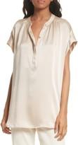 Vince Women's Shirred Silk Blouse