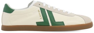 Lanvin Leather & Suede Low Top Sneakers