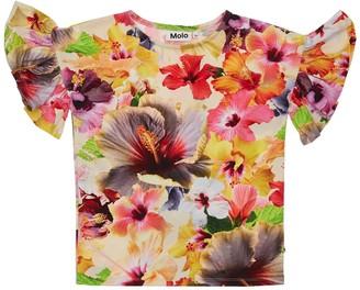 Molo Flower Print Cotton Jersey T-shirt