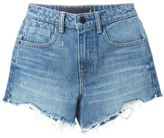 Alexander Wang destroyed denim shorts - women - Cotton/Polyester - 25