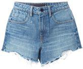 Alexander Wang destroyed denim shorts - women - Cotton/Polyester - 26