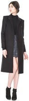 Alice + Olivia Collins Notch Collar Long Coat