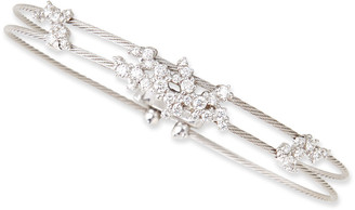 Paul Morelli 18k White Gold Diamond Confetti Double Wire Bracelet