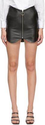 pushBUTTON SSENSE Exclusive Black Leather Zippered Miniskirt
