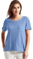 Gap Relaxed slub pocket tee