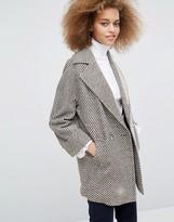 Helene Berman Tessa Coat in Brown and Ivory