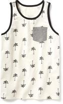 Old Navy Palm-Printed Pocket Tank for Boys