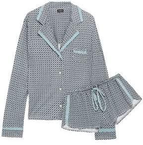 Cosabella Printed Pima Cotton And Modal-blend Jersey Pajama Set