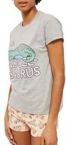 Topshop Women's Snoozeasaurus Short Pajamas