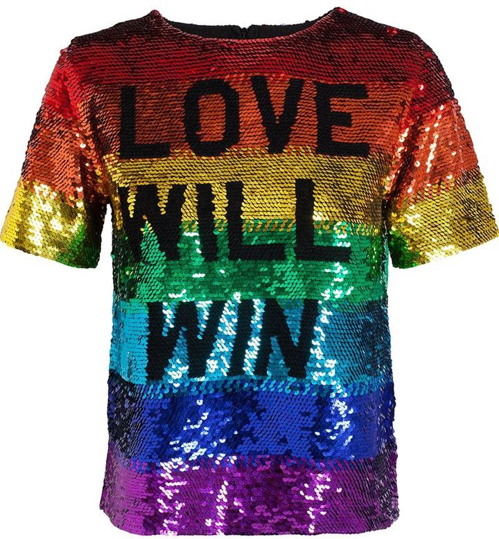 Ashish 'Love Will Win' sequinned top