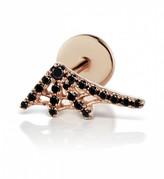 Maria Tash 10mm Black Diamond Web Thread Through Single Earring - Rose Gold