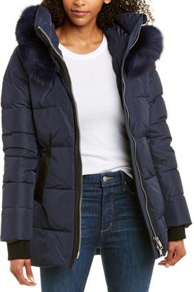 Nicole Benisti NB Series by Series By Nakiska Leather-Trim Down Coat