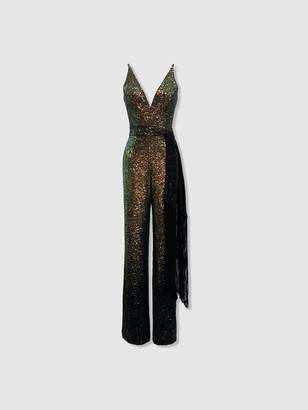Dress the Population Kinsley Jumpsuit - Gold Multi
