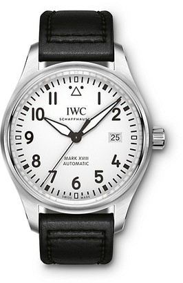 IWC Pilot Mark XVIII Stainless Steel & Leather Strap Watch