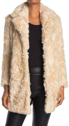 KENDALL + KYLIE Curly Faux Fur Jacket