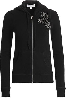 Michael Kors Embellished Cashmere Hoodie