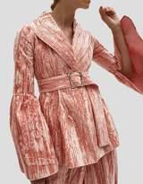 Claire Split Sleeve Jacket in Pink Velvet