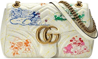 Gucci Online Exclusive Disney x GG Marmont medium shoulder bag