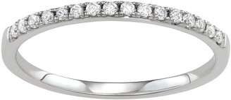 Vera Wang Simply Vera 14k Gold 1/8 Carat T.W. Diamond Wedding Band HI-I2