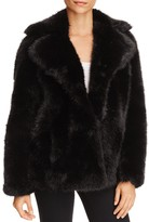 MICHAEL Michael Kors Faux Fur Pea Coat