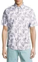 Vilebrequin Leaf Cotton Button-Down Shirt