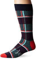 Happy Socks Men's X Iris Apfel 1 Pack Combed Cotton Crew-Tartan