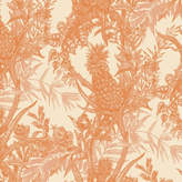 Houseology Timorous Beasties Pineapple Wallpaper - Orange