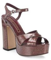 Marc Jacobs Debbie Patent Leather Platform Sandals
