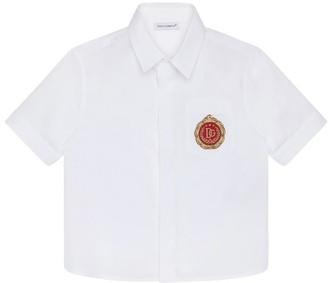 Dolce & Gabbana Kids Logo-Patch Shirt (8-12 Years)