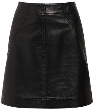 Philosophy di Lorenzo Serafini Faux Leather Mini Skirt