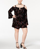 Jessica Simpson Trendy Plus Size Andrea Cold-Shoulder Romper