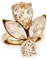 Oscar de la Renta Bold Teardrop Crystal Ring, Golden