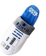 Star Wars Offiicial White and R2-D2 Adult Mule Slip On Slippers - 2 Sizes