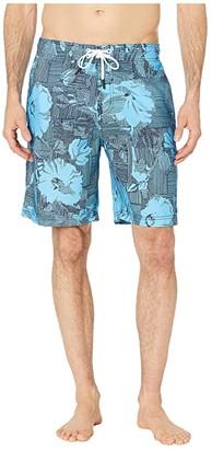 Speedo Garden Wave Bondi Boardshorts 20 (Black/Grey) Men's Swimwear