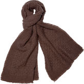 One Kings Lane Cashmere-Blend Basketweave Scarf, Sand