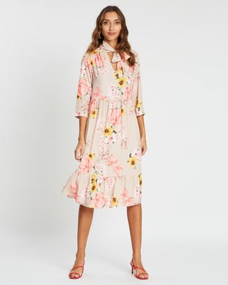 Dorothy Perkins Floral Smock Midi Dress