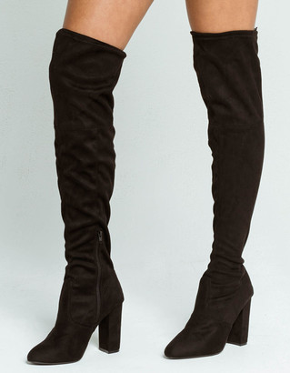 Wild Diva Over The Knee Womens Heeled Boots