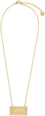 Versace Gold Spring/Summer 20 License Plate Necklace