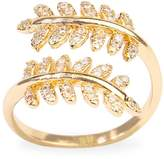 Riah Fashion Double Leaf Ring