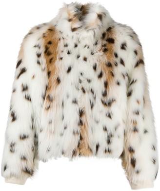 Jejia Animal Print Faux-Fur Jacket