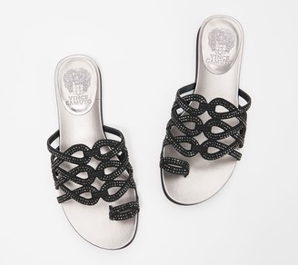 Vince Camuto Embellished Toe-Loop Sandals - Emmista