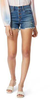Habitual Alana Distressed High Waist Denim Shorts